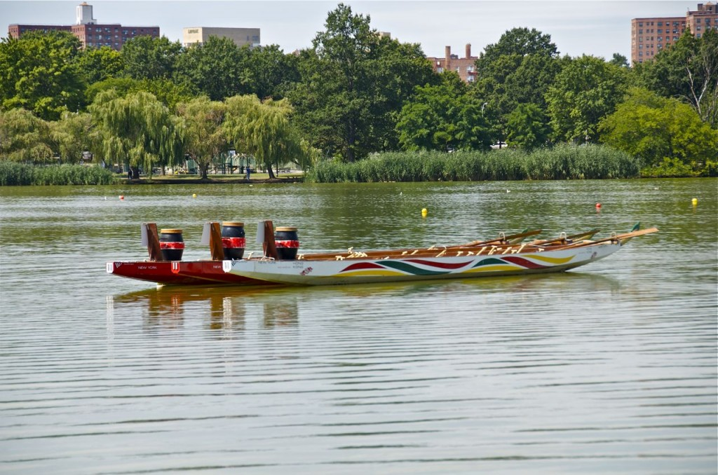 DRAGON BOAT RACING IN FLUSHING MEADOW CORONA PARK